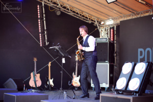 Saxophonist performance